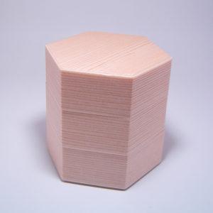 柾目6角3段はめ込み式a